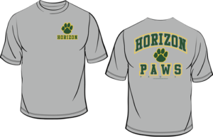 Horizon High School PAWS T-Shirt